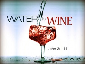 water to wine