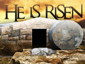 christ is risen w tomb