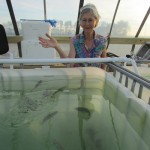 S. Miriam feeding the fish!
