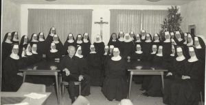 Sisters with Archbishop Hurley 1964