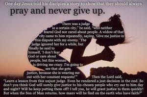 Perseverance of Prayer